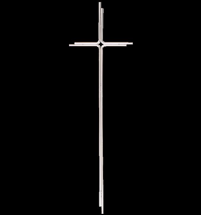 SK 24 Metallkreuz ohne Korpus (Chrom)