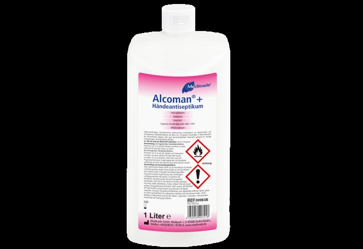 Handdesinfektion Alcoman+ 1 Liter