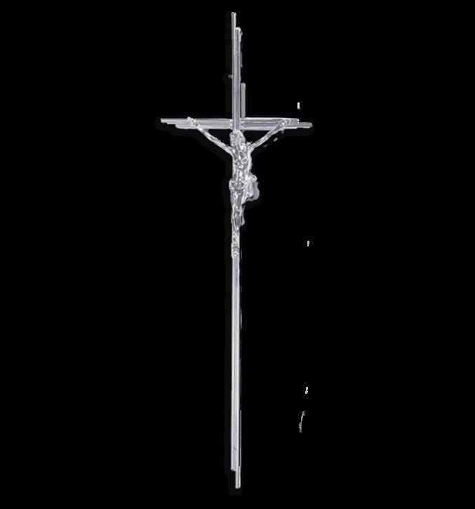 SK 12 Metallkreuz mit Korpus (Zinn)