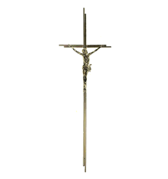 SK 3 Metallkreuz mit Korpus (Gold glänzend)
