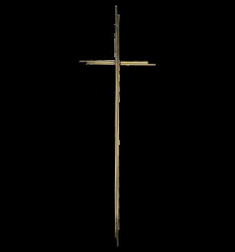 SK 4 Metallkreuz ohne Korpus (Gold glänzend)