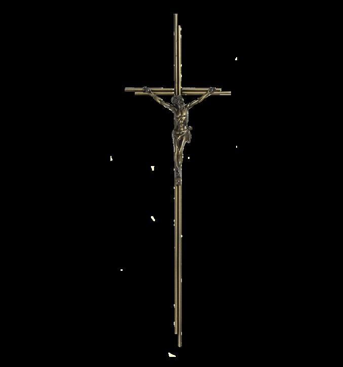 SK 7 Metallkreuz mit Korpus (Altgold)