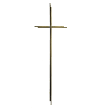 SK 8 Metallkreuz ohne Korpus (Altgold)